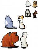 ADC Magnetky Tajný život mazlíčků set 4ks dětská dekorace 3 druhy