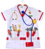 KLEIN Doktorský oblek set bílý plášť + dětské lékařské nástroje