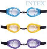 INTEX Plavecké brýle dětské 3-10 let na plavání do vody 3 barvy 55602