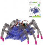Spider robot pavouk robotický pohyblivý 15cm na baterie stavebnice plast