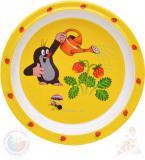 MORAVSKÁ ÚSTŘEDNA Talíř jídelní Krtek a jahody (krteček) 21cm žlutý