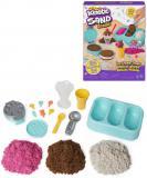 SPIN MASTER Kinetic Sand výroba zmrzlin kreativní set magický písek s nástroji
