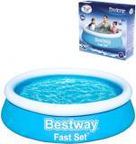 BESTWAY Bazén Fast Set samostavěcí kruhový 183x51cm rodinný 57392