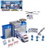 Teamsterz policejní stanice herní set s figurkami a helikoptérou kov v krabici