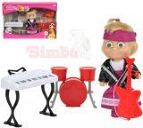 SIMBA Máša a medvěd panenka 12cm muzikantka set s doplňky