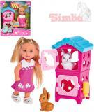 SIMBA Evi Love Panenka Evička králíkárna 12cm set s doplňky v krabičce