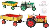 KOVAP Traktor Zetor retro model 1:25 plechový k natažení na klíček Kov 0395