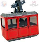 KOVAP Lanovka plechová červená na natažení na klíček Kov 0621