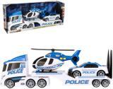 Teamsterz policejní tahač set s autem a vrtulníkem na baterie plast Světlo Zvuk