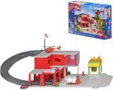 SIKU World Požární stanice herní set s autem a vrtulníkem na baterie Světlo Zvuk