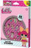 SES CREATIVE L.O.L. Surprise nálepky holčičí třpytivé 2 archy set 68ks v krabici