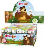Bublifuk Máša a medvěd 60ml dětský bublifukovač s hrou ve víčku
