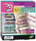 SO BEADS Náramky s písmenky kreativní set výroba dětské bižuterie v krabici