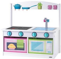 WOODY DŘEVO Kuchyňka úložná lavice s opěrátkem 2v1 *DŘEVĚNÉ HRAČKY* - zvětšit obrázek