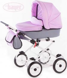 BAYER Kočárek dětský hluboký VIVA VIOLET pro panenku miminko - zvětšit obrázek