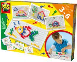 SES CREATIVE Mozaika na desce set s předlohami v krabici - zvětšit obrázek
