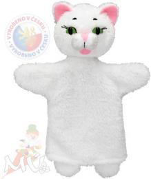 MORAVSKÁ ÚSTŘEDNA Maňásek s ťapkami Kočička bílá - zvětšit obrázek