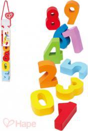 HAPE DŘEVO Baby číslice barevné set 10ks *DŘEVĚNÉ HRAČKY* - zvětšit obrázek