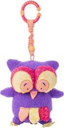 NINY PLYŠ Baby sovička mazlící chrastící Hoku 17cm s klipem pro miminko - zvětšit obrázek