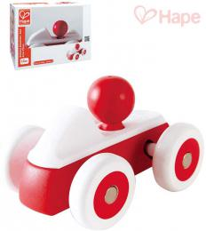 HAPE DŘEVO Baby roadster mini červené autíčko s řidičem pro miminko - zvětšit obrázek