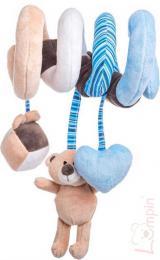 LUMPIN PLYŠ Baby spirála modrá medvídek Lumpin s hračkami pro miminko - zvětšit obrázek