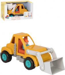 B-TOYS Baby autíčko nakladač buldozer Vroom set s figurkou řidiče - zvětšit obrázek