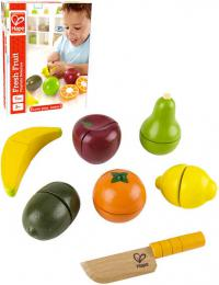 HAPE DŘEVO Ovoce čerstvé krájecí set s nožíkem makety potravin - zvětšit obrázek