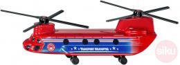 SIKU Vrtulník červený dopravní 17cm helikoptera kovový model blister 1689 - zvětšit obrázek