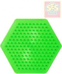 SES CREATIVE Podložka samostatná šestiúhelník pro zažehlovací korálky plast - zvětšit obrázek