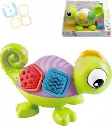 B-KIDS Baby chameleon senzorický set s kostkami mění barvy na baterie LED Světlo - zvětšit obrázek
