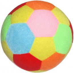 PLYŠ Baby soft barevný míč Happy World 18cm s chrastítkem pro miminko - zvětšit obrázek