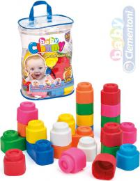 CLEMENTONI CLEMMY Baby Kostky gumové měkké set 24ks pro miminko - zvětšit obrázek