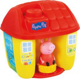 CLEMENTONI CLEMMY Baby kyblík domeček Peppa Pig set 6 soft kostek s figurkou - zvětšit obrázek