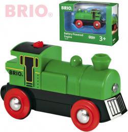 BRIO DŘEVO Lokomotiva na baterie zelená příslušenství k vláčkodráze Světlo - zvětšit obrázek
