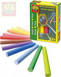 SES CREATIVE Křídy dětské barevné set 12ks v krabičce - zvětšit obrázek