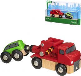 BINO DŘEVO Odtahová služba herní set kamion + osobní vozidlo 33528 - zvětšit obrázek