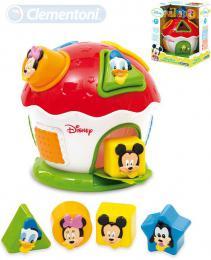 CLEMENTONI Baby domeček Mickey Mouse vkládačka se 4 tvary pro miminko - zvětšit obrázek