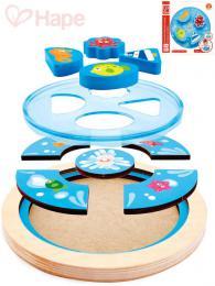 HAPE DŘEVO Baby puzzle kruhové moře skládačka v rámečku pro miminko - zvětšit obrázek