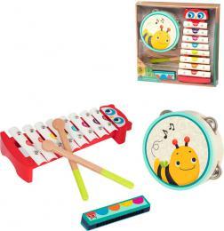 B-TOYS DŘEVO Baby dětské hudební nástroje set 3ks *DŘEVĚNÉ HRAČKY* - zvětšit obrázek