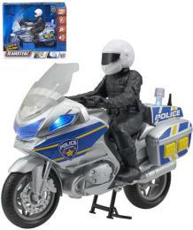 Teamsterz policejní set motocykl s figurkou policisty na baterie Světlo Zvuk - zvětšit obrázek