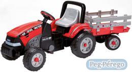 PEG PÉREGO MAXI TRACTOR DIESEL šlapací traktor s vlečkou řetěz - zvětšit obrázek