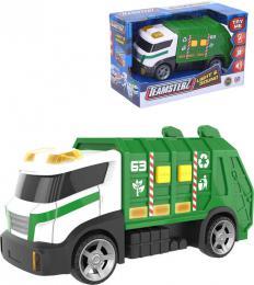 Teamsterz auto zelené popeláři 15cm na baterie Světlo Zvuk plast - zvětšit obrázek