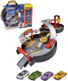 Teamsterz garáž skládací 2 patra herní set s myčkou a autíčky 5ks v kufříku - zvětšit obrázek