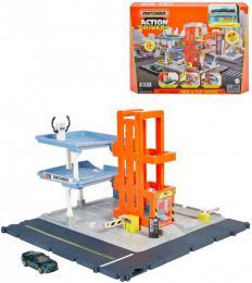 MATTEL MATCHBOX Set garáž s autem a výtahem na baterie Světlo Zvuk - zvětšit obrázek