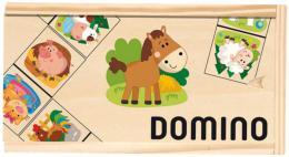 DŘEVO Hra Domino obrázkové zvířátka 28 kamenů *SPOLEČENSKÉ HRY* - zvětšit obrázek