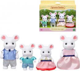 Sylvanian Families rodina myšek Marshmallow set 4 figurky myší rodinka v krabici - zvětšit obrázek