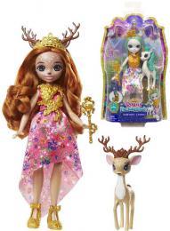Enchantimals Royal set panenka 20cm + zvířátko 3 druhy plast - zvětšit obrázek