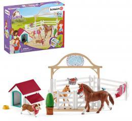 SCHLEICH Horse Club Hostující koně herní set se 2 koníky a doplňky - zvětšit obrázek