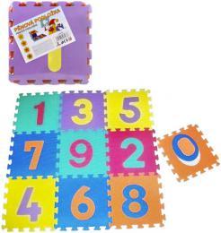 Baby puzzle pěnový koberec Čísla set 10ks měkké bloky vkládací - zvětšit obrázek