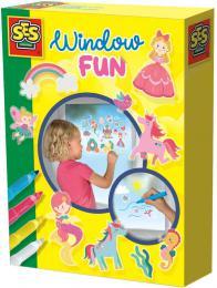 SES CREATIVE Kreativní set nálepky okenní dekorace princezny + 4 fixy na sklo - zvětšit obrázek